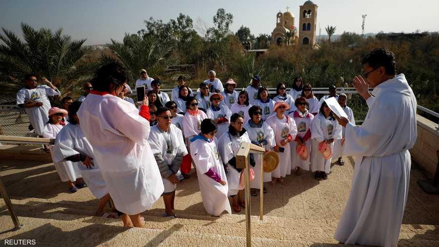 وفاق عدد الزوار في الضفة الغربية عدد الذين زاروا الموقع المقابل في الضفة الشرقية، أي الأردن.