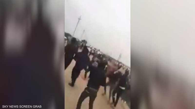 اشتباكات بين الأمن ومتظاهرين شمال البصرة