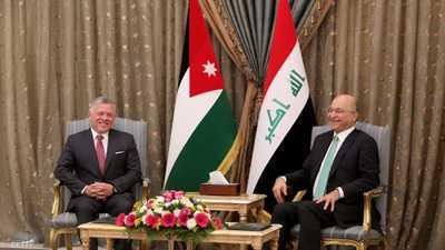 """برهم صالح: زيارة ملك الأردن للعراق """"تاريخية"""""""