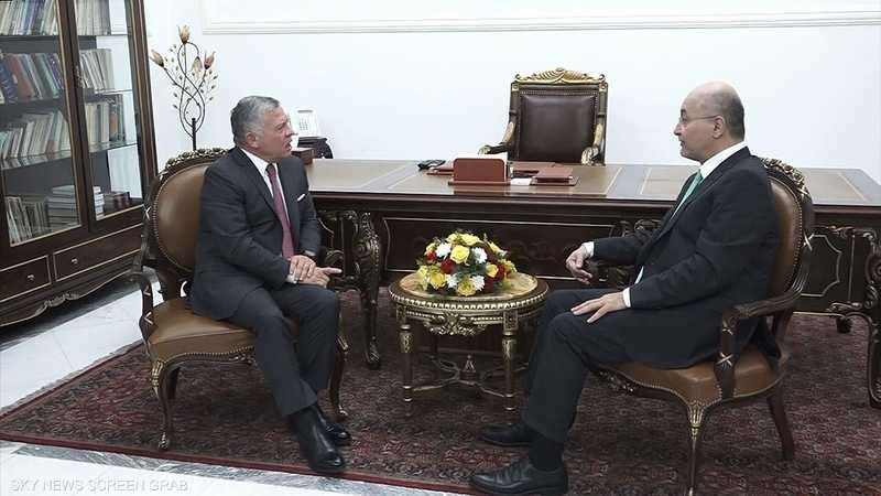 العاهل الأردني يبحث في بغداد تعزيز العلاقات