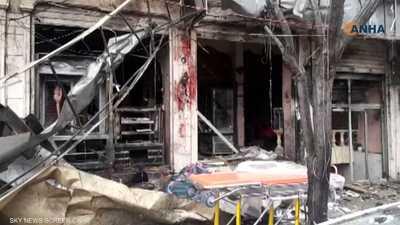 بعد تفجير منبج.. فيديو يرصد مروحية أميركية وسيارات إسعاف