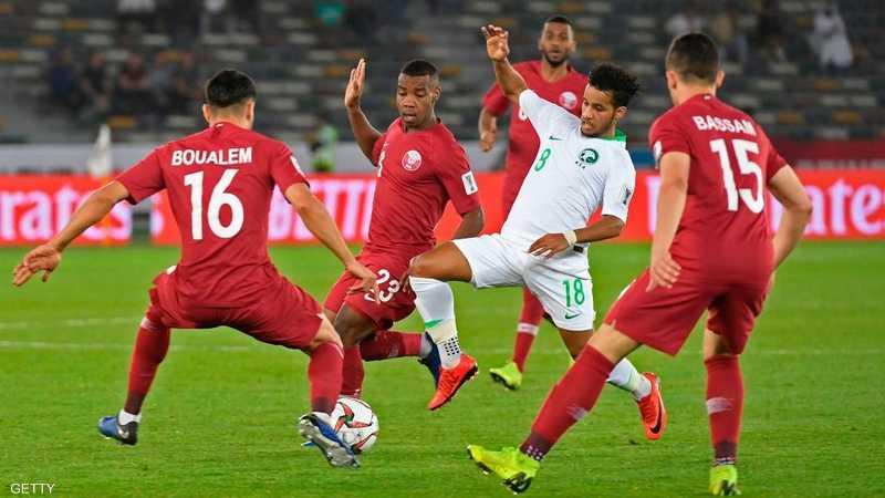 من مباراة السعودية وقطر
