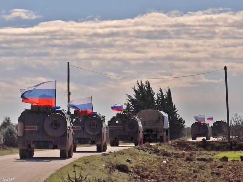 عربات تابعة للجيش الروسي في سوريا