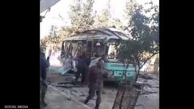 التفجير استهدف حافلة ركاب