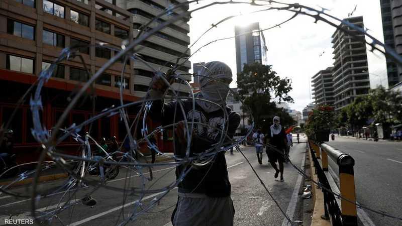 مظاهرات واحتجاجات في كاراكاس.