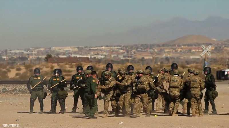 قوات أمنية وعسكرية أميركية على حدود المكسيك
