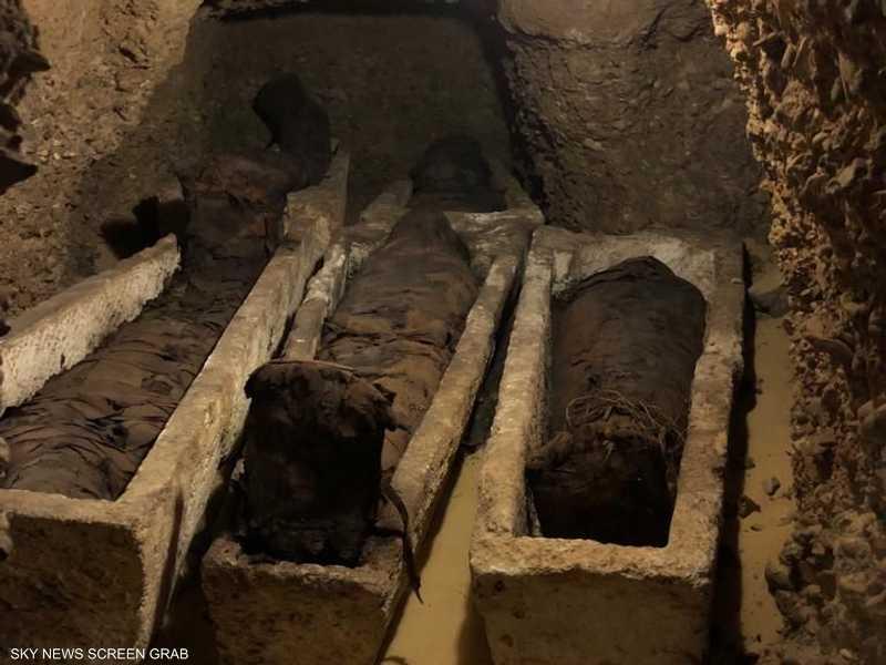 تنتمي المقابر المكتشفة إلى للعصر اليوناني - الروماني