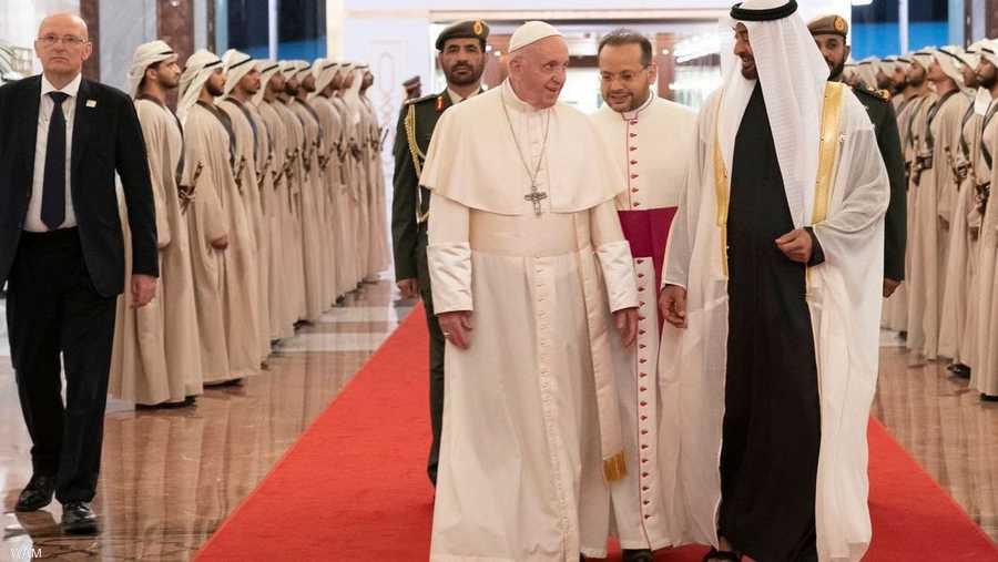 البابا فرنسيس في زيارة تاريخية إلى دولة الإمارت