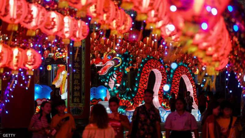 """وأقيمت الاحتفالات بسنة """"خنزير الأرض""""، التي تلي سنة """"كلب الأرض""""، في كافة أنحاء الصين بالإضافة إلى دول أخرى في جنوب شرق آسيا."""