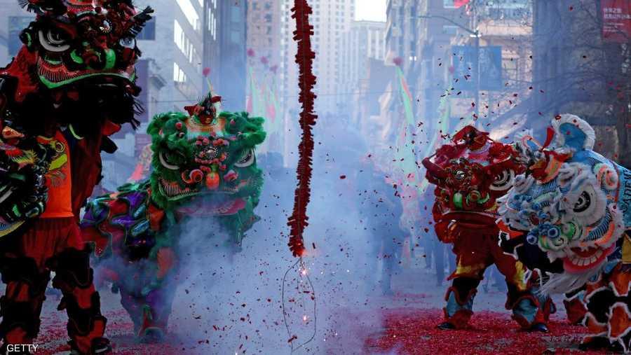 وأقيمت الاحتفالات أيضا في كافة أنحاء جنوب شرق آسيا، فضلا عن الأحياء الصينية الشعبية في لندن وسيدني وفانكوفر ولوس أنجليس وباريس.