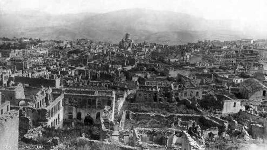 دمرت مناطق سكنية أرمنية بأكملها خلال الإبادة الجماعية.