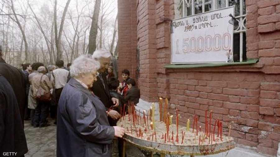 1.5 مليون شخص حصيلة الإبادة الجماعية حسب مؤسسات أرمنية.