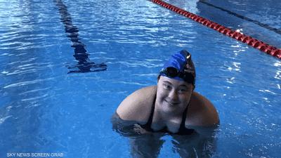 سارة خليفة.. سباحة لبنانية تتحدى الإعاقة في أولمبياد أبوظبي