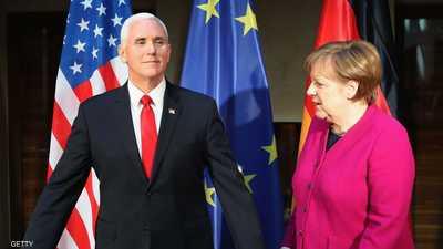 ميركل تدافع عن اتفاق إيران.. وبنس يندد براعية الإرهاب الأولى