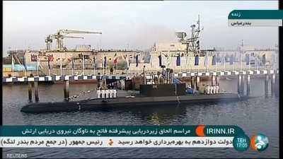 إيران.. غواصة جديدة قادرة على إطلاق صواريخ عابرة