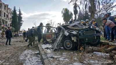 قتلى وعشرات الجرحى بانفجارين في إدلب