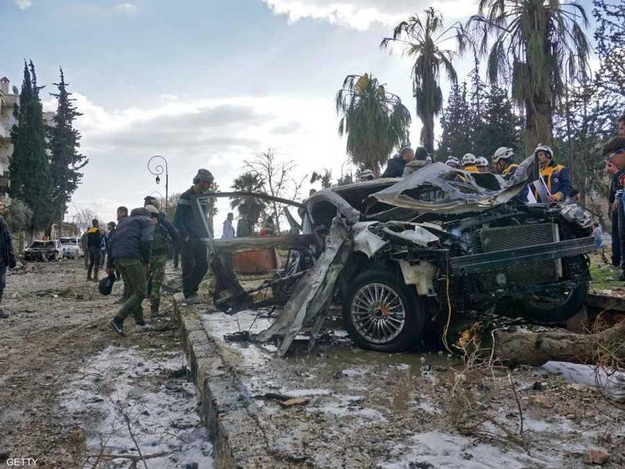قتلى وعشرات الجرحى في انفجارين بإدلب السورية