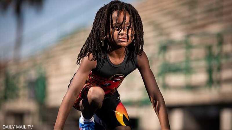 """قطع 100 متر في 13 ثانية: """"الطفل البرق"""" يتحدى أسرع رجل في العالم.. ويتوعد """"بتحطيم كل الارقام القياسية"""""""