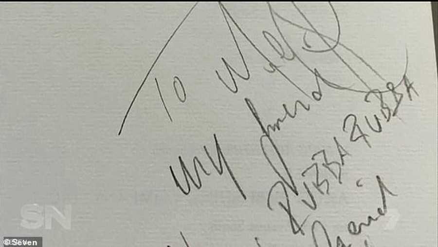الرسالة بخط جاكسون بحسب خبير الخطوط