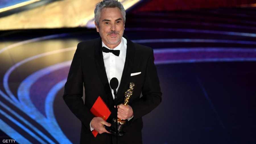 ذهبت جائرة أفضل مخرج للمكسيكي ألفونسو كوارون (57 عاما) عن فيلمه روما، الذي صنع بالإسبانية.