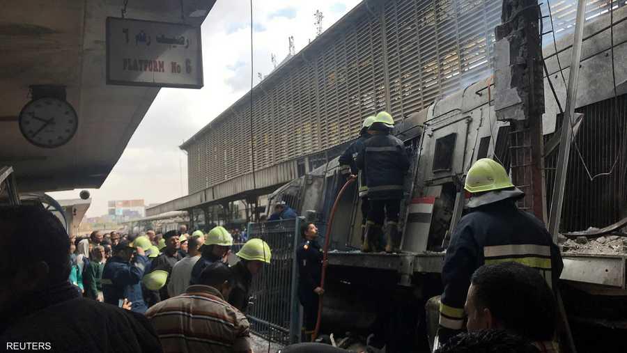 """الحريق وقع في """"ميدان رمسيس"""" بوسط القاهرة"""