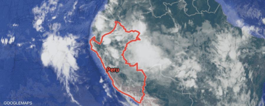 تقع البيرو في منطقة حزام النار بالمحيط الهاديء