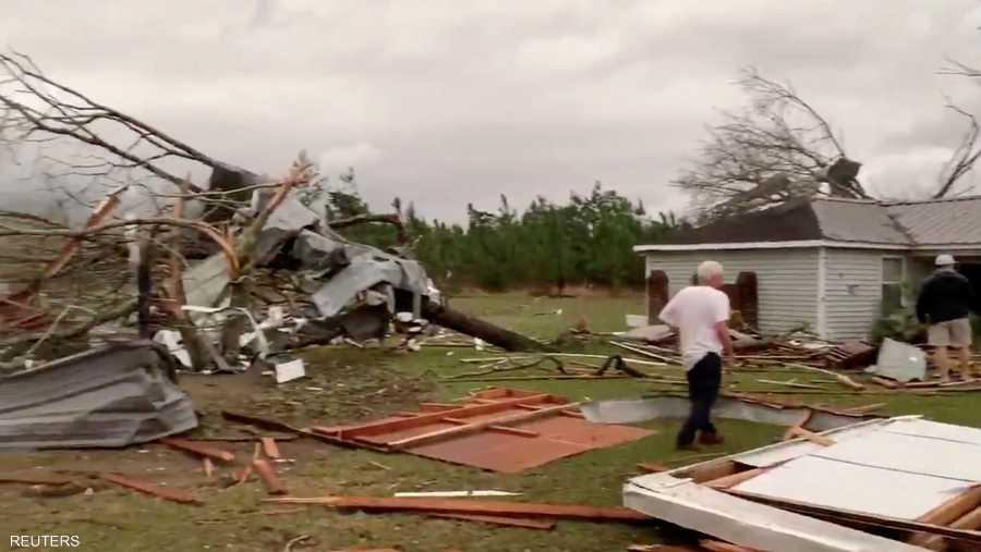 أضرار جسيمة خلفتها الأعاصير في ولاية ألاباما