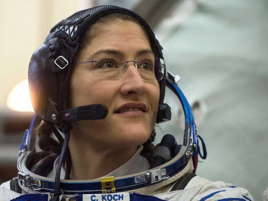 رائدة الفضاء الأميركية كريستينا كوخ سوف تسير في الفضاء