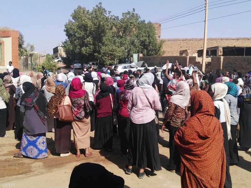 تظاهرة نسائية ضد نظام الحكم في السودان -أرشيف-