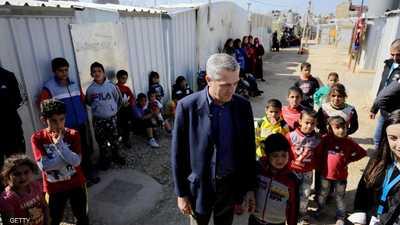 مفوض اللاجئين: وجهت رسالة قوية للحكومة السورية