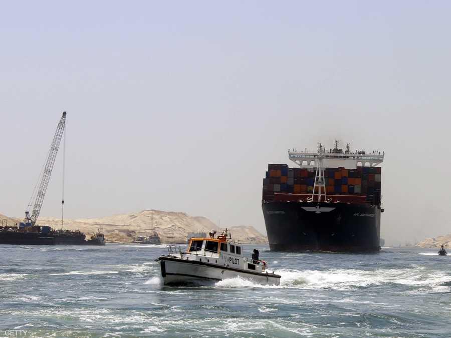 أرشيفية لإحدى السفن تعبر قناة السويس