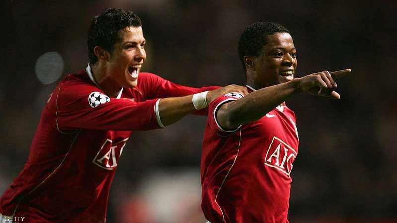 إيفرا ورونالدو لعبا سويا في مانشستر يونايتد