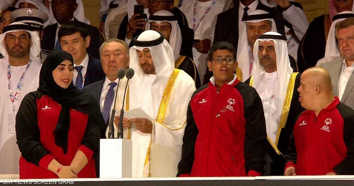 الشيخ محمد بن زايد يطلق الأولمبياد الخاص للألعاب العالمية