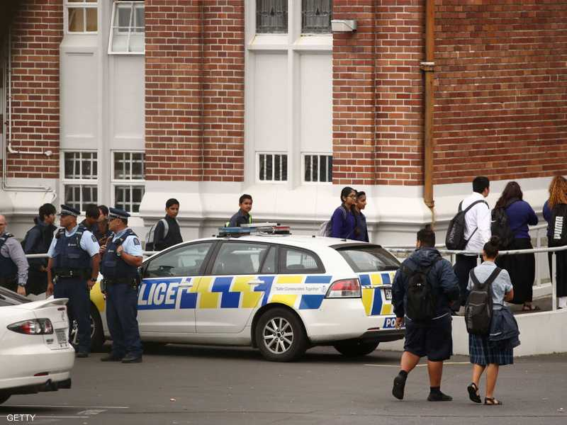 أرشيفية للشرطة النيوزيلاندية تباشر حادث إطلاق نار