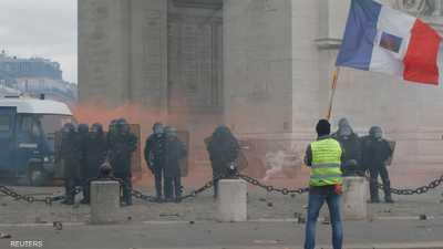 """فرنسا.. اشتباكات بين الشرطة ومحتجي """"السترات الصفراء"""""""