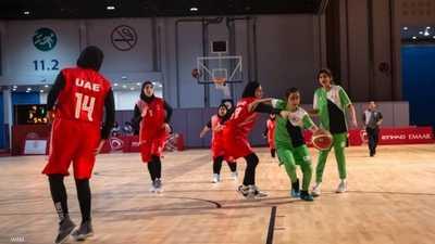 سيدات الإمارات يتألقن في كرة السلة أمام مصر