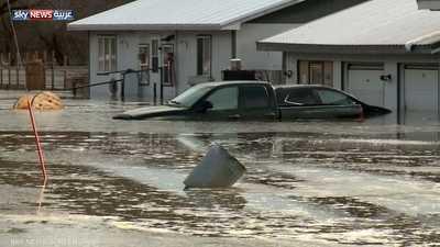 """""""إعصار القنبلة"""" يغرق نبراسكا بفيضانات تاريخية"""