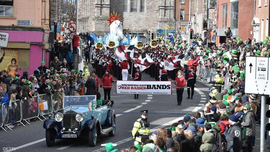 مسيرة واحتفالات في شوارع دبلن