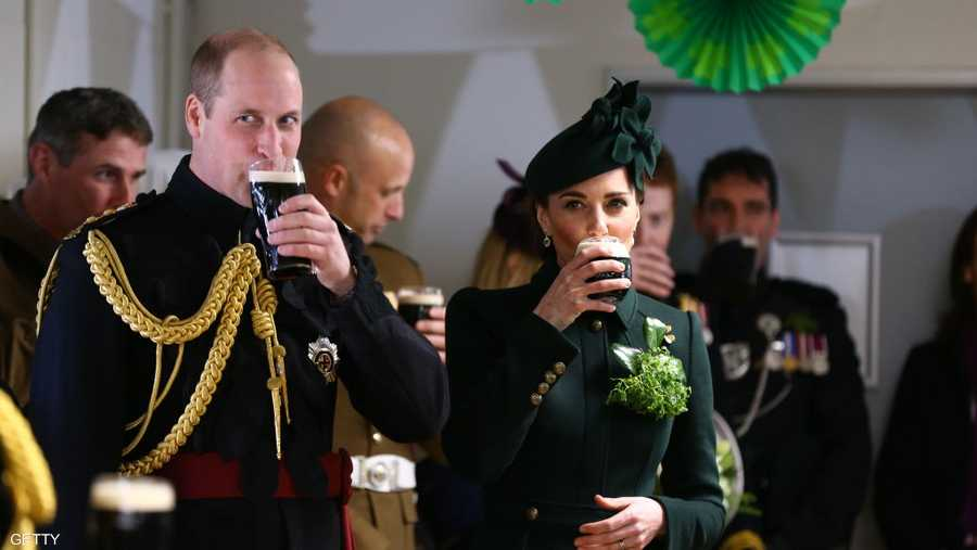 الأمير وليام وزوجته كيت في الاحتفالات الرسمية ليوم القديس