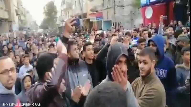 استمرار الاحتجاجات في غزة ضد الأوضاع المعيشية المتردية