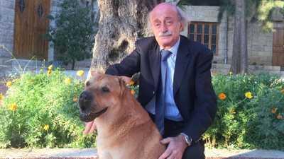 جنبلاط ينعى كلبه: وداعا يا حبيبي يا أوسكار!