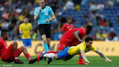 البرازيل تكتفي بالتعادل مع بنما في مباراة ودية باهتة