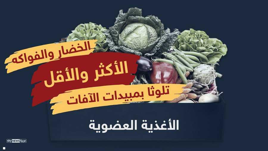 الخضار والفواكه الأكثر تلوثا بالمبيدات