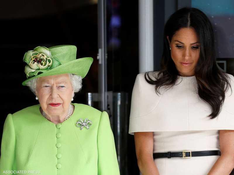 صورة تجمع ميغان والملكة إليزابيث