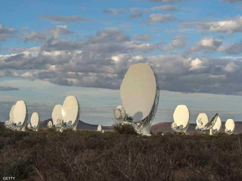 الصورة التقطت عبر شبكة تيليسكوبات