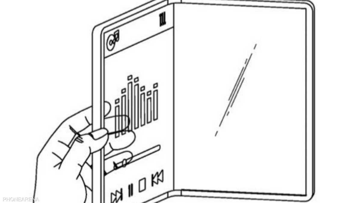 براءة اختراع لهاتف ذكي قابل للطي من إل جي