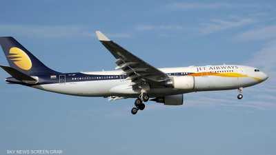طائرة تابعة لشركة جت إيروايز