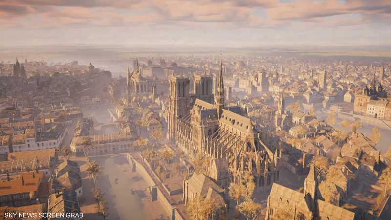 لعبة فيديو قد تسهم في ترميم كاتدرائية نوتردام في باريس