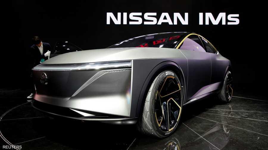 """نموذج مستقبلي لسيارة """"نيسان"""" من الطراز IMs."""