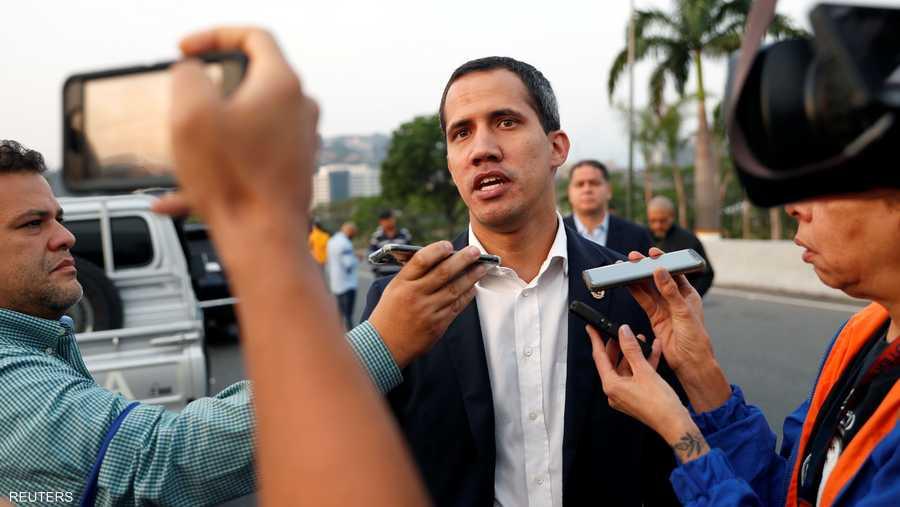 دعا غوايدو أنصار المعارضة إلى الخروج إلى الشوارع للاحتجاج على حكم مادورو